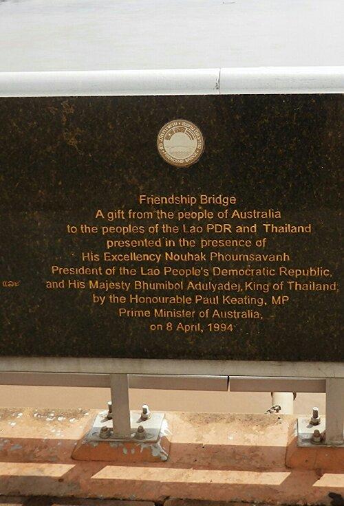 Most przyjaźni między Laosem a Tajlandią